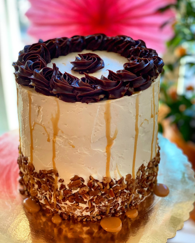 Salted Caramel Cake, Turtle Cake, Sweet Lulu's, Charleston Bakery, Charleston Cake Bakery